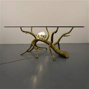 Rare Jacques Duval-Brasseur Illuminated Dining Table