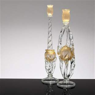 Pair of Large Seguso Candlesticks, Murano