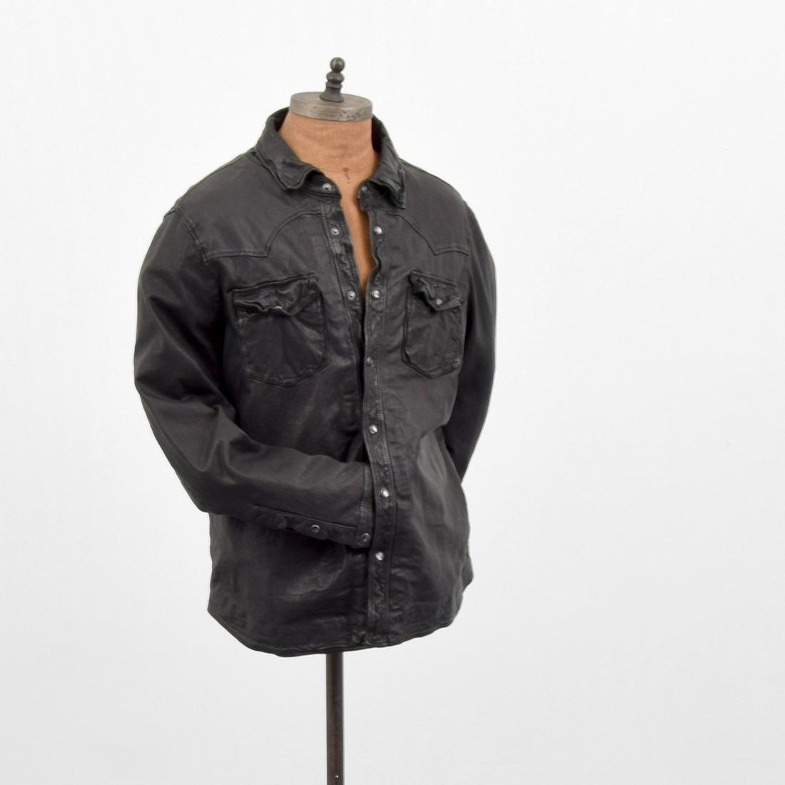 Ralph Lauren Polo Leather Button-Up Shirt Jacket, Men