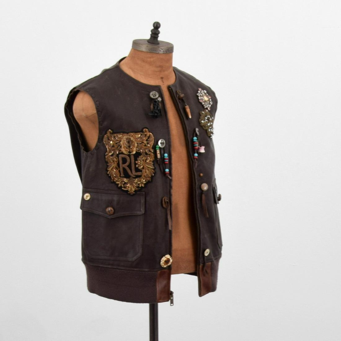 Ralph Lauren Purple Label Hamlin Leather Vest, Women's