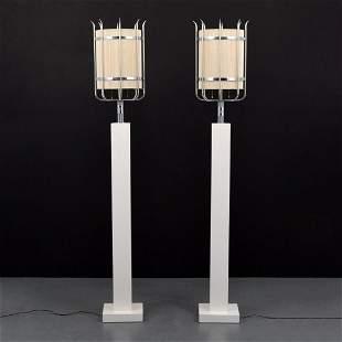 Pair of Custom Tommi Parzinger Floor Lamps