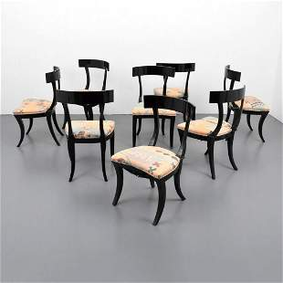 Set of 8 Klismos Dining Chairs Attr. to Tommi Parzinger