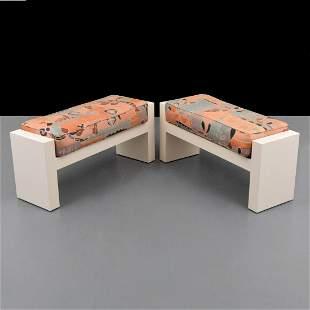 Pair of Karl Springer Benches