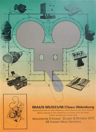Claes Thure Oldenburg Maus Museum Lithograph