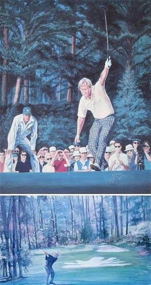 2 Walt Spitzmiller Golf Prints Signed Editions