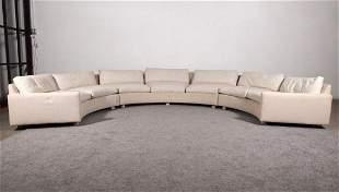 Large Milo Baughman Curved Sectional Sofa