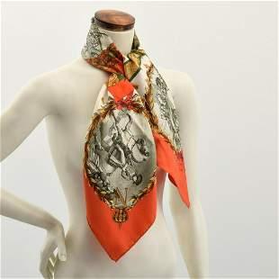 "Hermes ""Napoleon"" Silk Scarf"