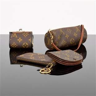 4 Louis Vuitton Monogram Pouches/Accessories