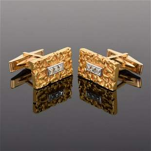 14K & 18K Gold, Platinum & Diamond Cufflinks