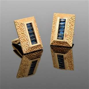 Pair of Lucien Piccard 14K Gold Cufflinks