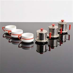 Richard Ginori Tea Cups & Infusers, 6 Pieces