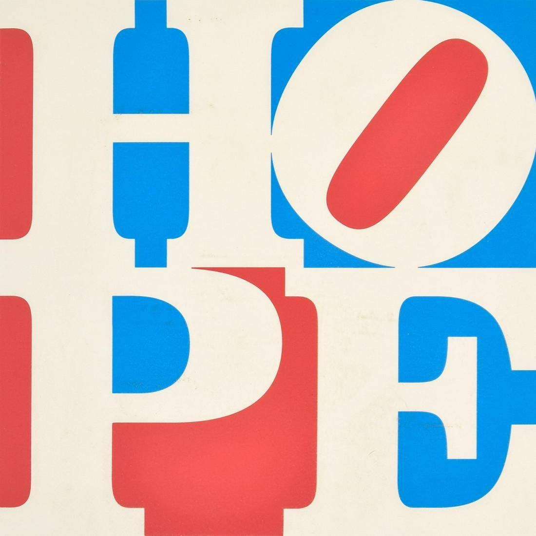 "Robert Indiana ""Hope"" Screenprint, Signed Edition"