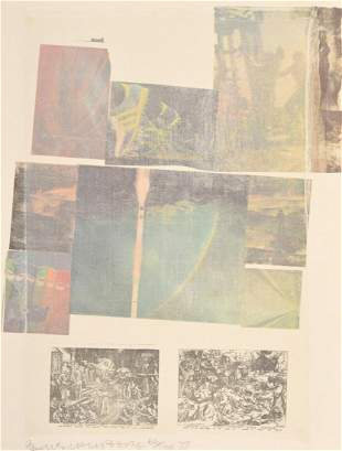 """Robert Rauschenberg """"People..."""" Lithograph, Signed"""