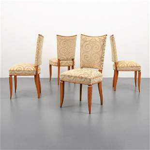 4 Dining Chairs, Manner of Jules Leleu
