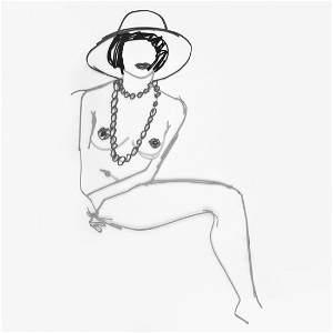 "Tom Wesselmann ""Monica"" Nude Steel Drawing Sculpture"