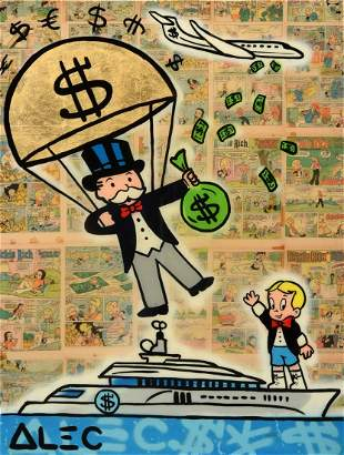 Alec Monopoly Mixed Media Painting
