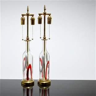 Pair of Vistosi Lamps, Murano
