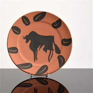 """Pablo Picasso """"Tauromachie"""" Plate, Madoura (A.R. 393)"""
