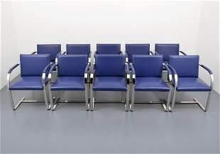 Ludwig Mies van der Rohe BRNO Arm Chairs, Set of 10