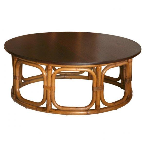 2: Vintage Rattan Table
