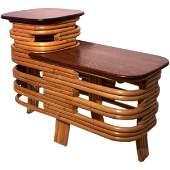 10: Vintage Rattan Table