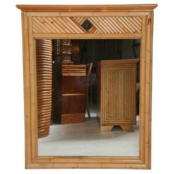 13: Vintage Rattan Mirror