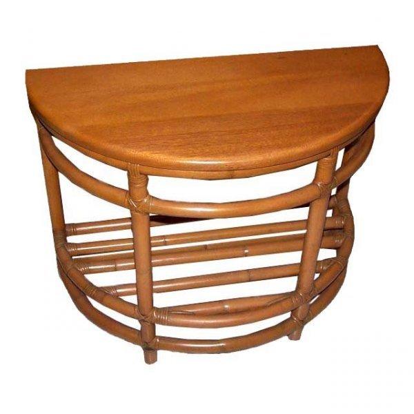15: Vintage Rattan Table, Side