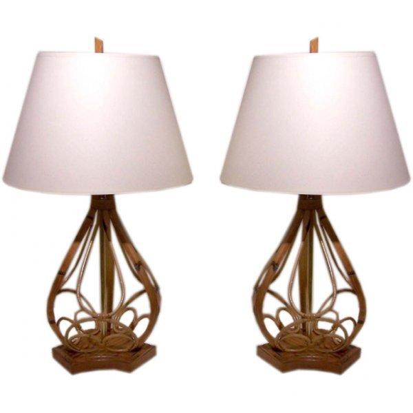 17: Vintage Rattan Lamps