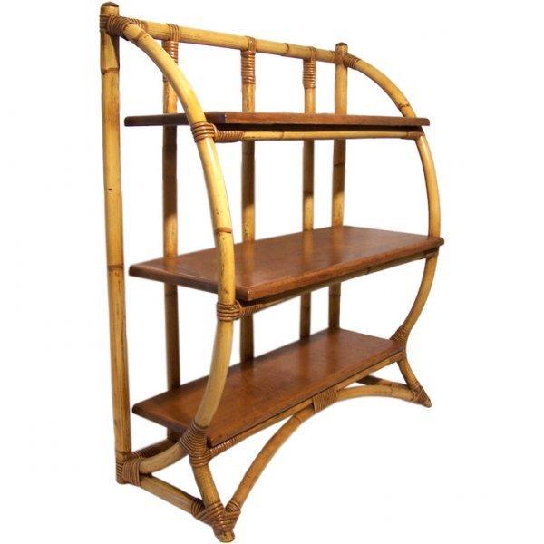 20: Vintage Rattan Book Shelf