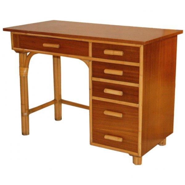 21: Vintage Rattan Desk