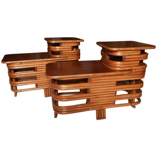 26: Vintage Rattan Tables