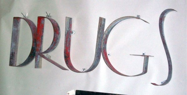 301: Large 1930's 'Drugs' Sign - 2
