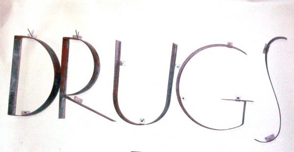 301: Large 1930's 'Drugs' Sign - 3