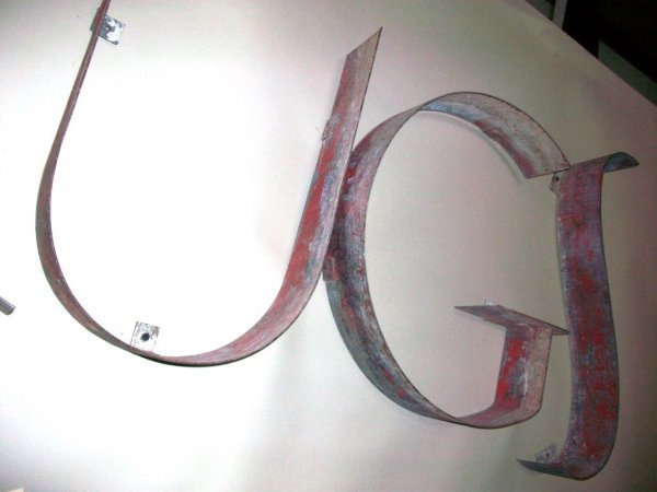 301: Large 1930's 'Drugs' Sign - 6