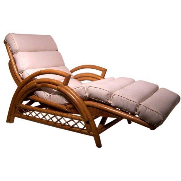 1: Vintage Rattan Chair, Chaise Lounge