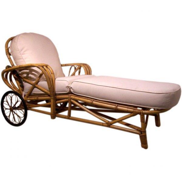 3: Vintage Rattan Chair, Chaise Lounge