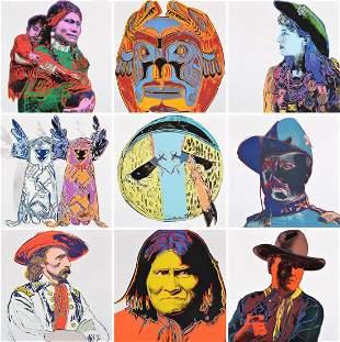 """10 Andy Warhol """"Cowboys & Indians"""" Portfolio"""