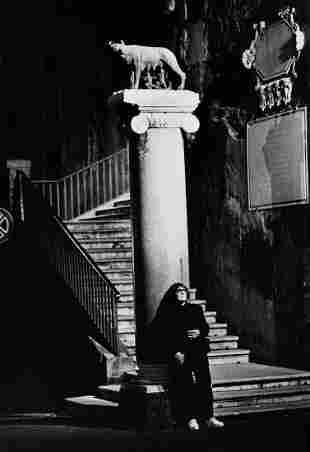 Helmut Newton Photograph of June Newton, Signed