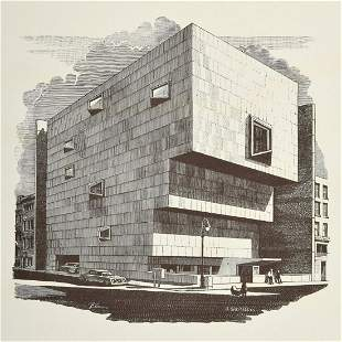 Richard Haas Woodcut Print, Signed Edition