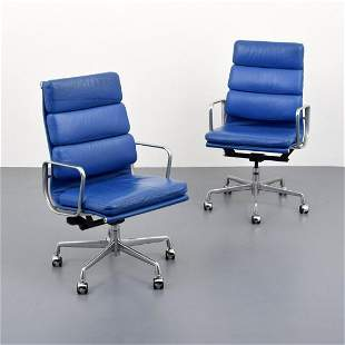 """2 Charles & Ray Eames """"Soft Pad"""" Chairs, Paige Rense"""