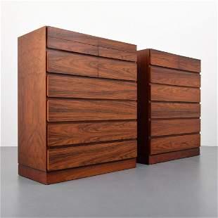 Pair of Arne Wahl Iversen Dressers