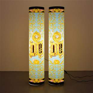 """Pair of Versace Home Collection """"Farah"""" Floor Lamps"""