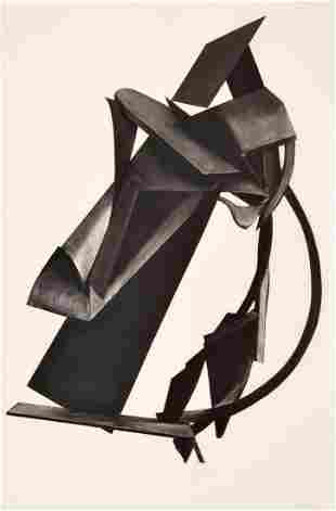 Monumental Michael Steiner Abstract Charcoal Drawing