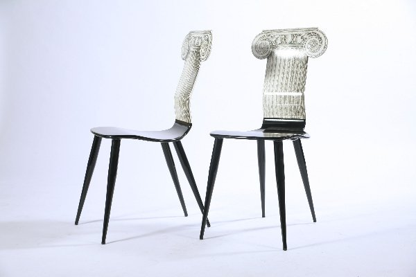 11: Piero Fornasetti Pair of Chairs