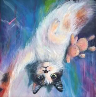 Erika Chapman Cat Painting