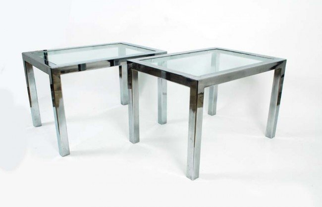 10: Pair of Chrome Tables, Manner of Pace