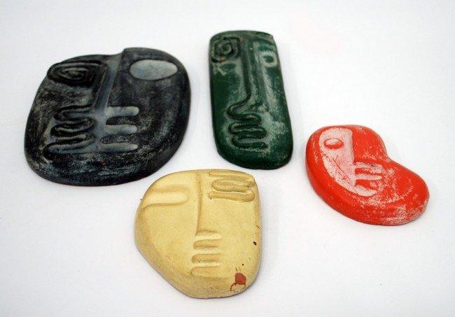 21: Set of 4 Masks, Manner of  Frederick Weinberg