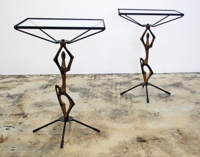 22: Pair of Frederick Weinberg Tables