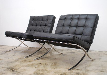 """93A: Pair of """"Barcelona"""" Chairs, The Seagram Building"""