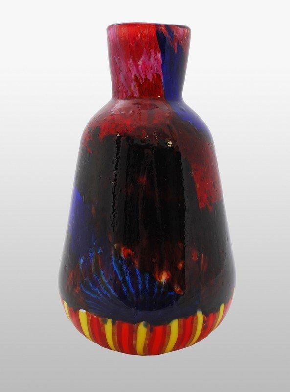 "3: Rare Murano ""Patchwork"" Vase by Anzolo Fuga"